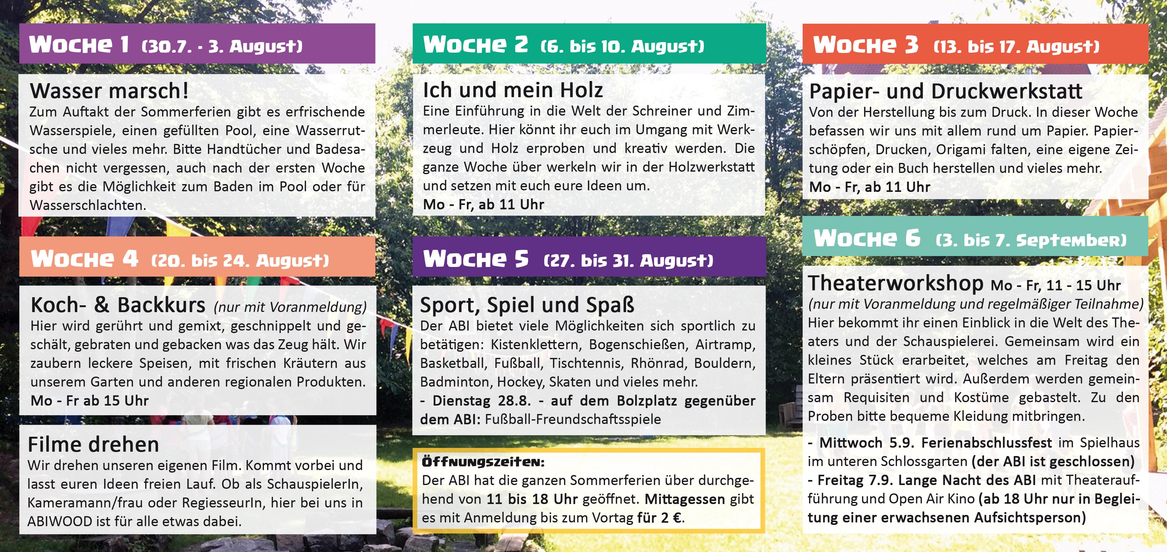Sommerferienprogramm - innen2018WEB